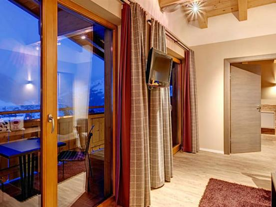 Penthouse suite with view on the mountains